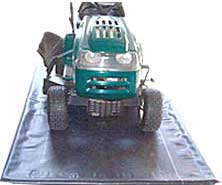 Use Rubber Mats for your lawn tractor